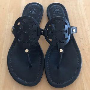 3296495b2b8e Tory Burch miller sandals black matte